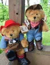 "Western Pair of Bears - Guy & Gal - 11"" High - With Tags - Russ"