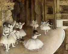 Rehersal on Stage by Edgar Degas - Art Dancers Ballerina Theater 8x10 Print 0248