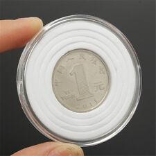 10X Plastic Coin Display Cases EVA Inserts Capsules Holder Storage Box Clear OZ