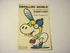 ADESIVO anni '70 / Old Sticker _MIKE BONGIORNO Cavallino Michele (cm 8 x 12)