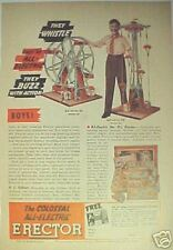 1940 All-Electric Erector Set Boy Vintage Print Toy AD