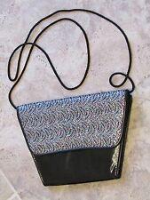 Black shiny evening shoulder clutch bag green pink silver glitter retro vintage?