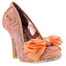 Irregular Choice Ascot Womens Pink Wedding Party Shoes Size UK 4-7.5