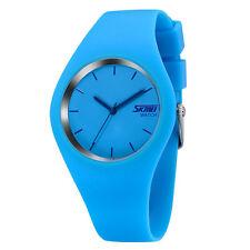 SKMEI Brand Watch Men Women Colorful Jelly Quartz-Watch Silicone Band