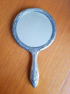 Vintage Antique Heavy Silver Vanity Mirror