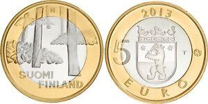 Finlande 5 euro 2013 - Province Satakunta - Site funéraire Sammallahdenmäki UNC