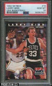 1992 Skybox USA Basketball #10 Larry Bird Boston Celtics HOF PSA 10 GEM MINT