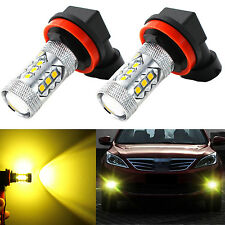 Alla Lighting 2pcs 3000K H11 H8 Gold Yellow 3030 SMD LED Fog Driving Light Bulbs
