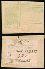 INDIA WW2 GREEN ENVELOPE PRINTED in URDU + OHMS LABEL