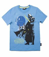 Camiseta Niños Star Wars manga corta gris negro azul talla 116 128 134 140 152