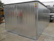 3x5m Geprüfte Qualität Fertiggarage Garage Geräteschuppen Geschloßene U-profile