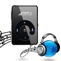 Fashion Clip Mini USB MP3 Music Media Player Micro SD TF Card Up to 32GB Black