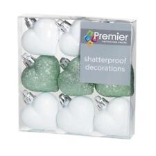 Adornos Premier color principal blanco para árbol de Navidad