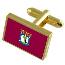 Ciudad de Madrid Bandera Escudo de Armas España Para Hombre Gemelos//Tie diapositiva Set Grabado