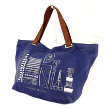ANYA HINDMARCH tote bag canvas �~ leather Auth used I580