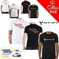 T-Shirt Yamaha MT - 07 uomo Maglia moto nera cotone 100% maglietta
