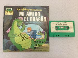 Mi Amigo el Dragon Cassette Tape Audiobook w/Picture Book 1977 Vintage Disney
