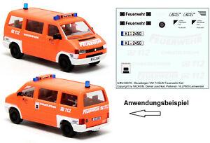Mickon 50070 Decals VW T4 Bus Feuerwehr Kiel ELW passend für Herpa AWM 1:87 H0