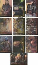 TC 2004 Lord Of The Rings RotK Hobby Japan Exclusive Prismatic Foil Cards #1-10