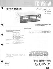 Sony Original Service Manual per TC-V 50w