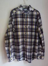 Para hombres camisa abotonada cuadros Columbia De Algodón Talla M