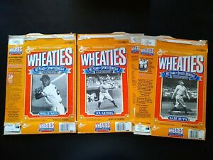 Babe Ruth Lou Gehrig & Willie Mayes 60 Years of Sports Heritage WHEATIES Cereal