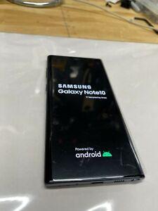 Samsung Galaxy Note10 SM-N970U 256GB - Aura Black (Unlocked) w/ credit card case