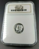 1963 P Proof Roosevelt Dime Silver Coin NGC PF68 Cameo Gem Proof No Toning