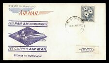 Dr Who 1959 Australia First Flight Pan Am Jet Clipper Sydney To Honolulu C216583