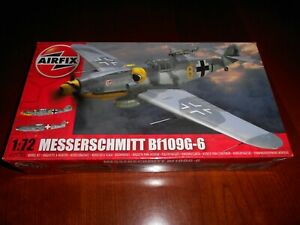AIRFIX 02029, 1/72 MESSERSCHMITT BF109G-6 PLASTIC MODEL KIT