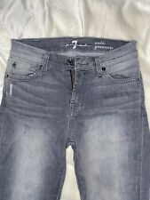 7 For All Mankind Slate Grey Gwenevere Skinny Jean Size 25 Like New