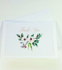 Thank You Cards Notes Flower Wedding Business Birthday Thankful AT THANK55