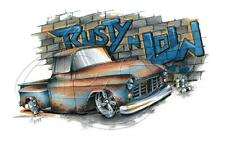 Chevrolet '55-'56 Pickup Chevy Hot Rod Truck Rusty 'n Low T-shirt Small to 5XL