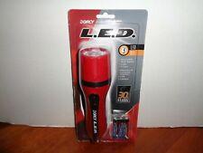Dorcy 3 LED Flashlight Red/Black w/Wrist Strap 412504 NEW SEALED