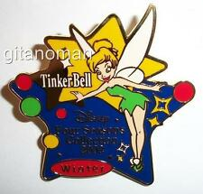 Japan Disney Store M&P Four Seasons Collection 2002 Winter Tinker Bell Star Pin