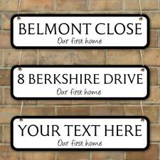 Family Name plaque, Road Sign, Personalised New Home Gift House warming gift