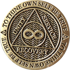 Infinity Eternity AA Medallion Reflex Chocolate Bronze Sobriety Chip Coin