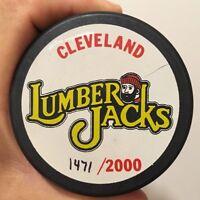 Vintage Cleveland Lumberjacks 1994-1995 Hockey Puck Gund Arena IHL 50th