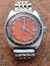 VETTA Vintage Diver Watch Uhr Stainless Bacelite Beads Rice Bracelet Automatic