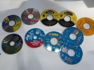 Childrens Cd Rom Educational Lot 10 CD Rom Computer Discs sesame Arthur etc