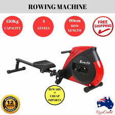 Everfit Rowing Exercise Machine Rower Resistance Gym Fitness Cardio Strength