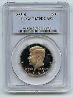 1985-S 50C DC (Proof) Kennedy Half Dollar--PCGS Pr70 Deep Cameo--A Beauty!!
