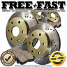 J0016 FIT 2004 2005 GMC Sierra 1500 (Dual-Piston-Caliper) 6LUG Rotors Pads GOLD