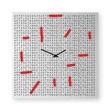 dESIGNoBJECT Orologio da muro Crosswords laccato nero 50x50 Made in Italy