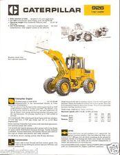 Equipment Brochure - Caterpillar - 926 - Log Loader - c1985 (E2095)