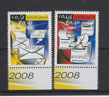 CYPRUS MNH STAMP SET 2008 EUROPA THE LETTER SG 1162-1163
