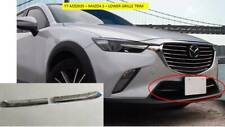 MAZDA CX-3 LOWER FRONT GRILLE TRIM BEZELS PLASTIC CHROME FINISH YT-MZD035