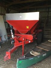 6 Ton Capacity Stainless Steel Lime Fertilizer Spreader Applicator Broadcaster