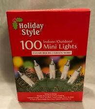 Holiday Style Indoor Outdoor 100 Mini Lights String Clear