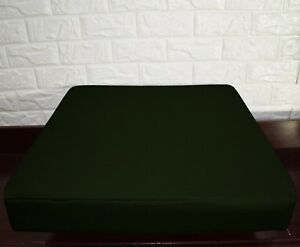 PL14t Army Green Canvas Water Proof Outdoor Box Seat Cushion Cover*Custom Size